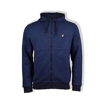 Lyle & Scott Space Dye Zip-Through Hoodie (Navy)