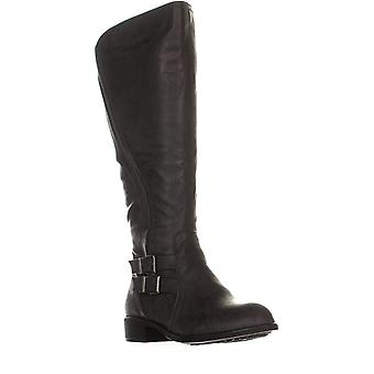 Style & Co. SC35 Milah Wide Calf Zip-Up Riding Boots, Charcoal, 9.5 US