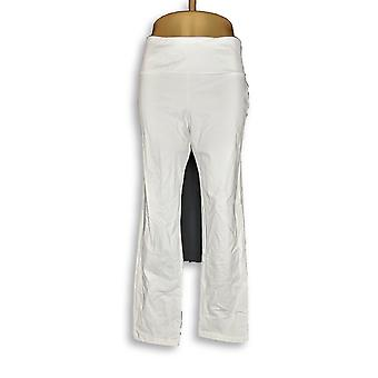 Femmes avec Control Women-apos;s Petite Pantalon Slim Leg White A225790