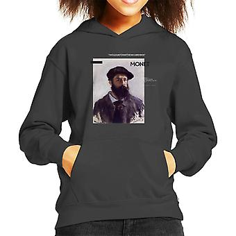 A.P.O.H Monet Paint The Way Birds Sing Quote Kid's Hooded Sweatshirt