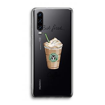 Huawei p30 caso transparente-mas o primeiro café