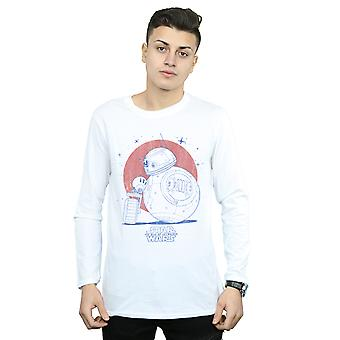 Star Wars The Rise Of Skywalker BB-8 and D-O Distressed Long Sleeved T-Shirt Men's
