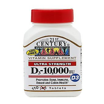 21st century ultra strength d3-10, 000 iu, tablets, 110 ea