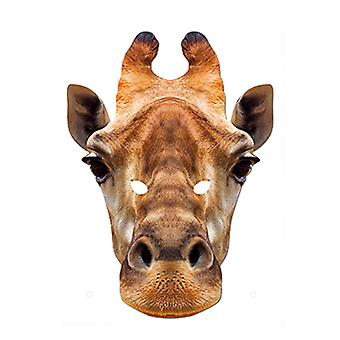 Giraffe Animal Card Party Face Mask