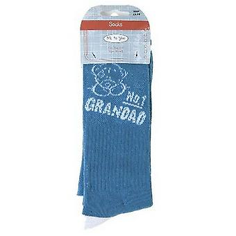 No 1 Grandad Me to You Bear Socks