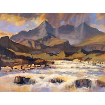 Ed Hunter print - The Cuillins from Sligachan