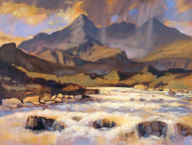Ed Hunter print - The Cuillins fra Sligachan