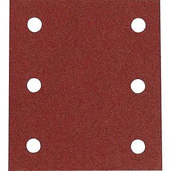 Sander paper Hook-and-loop-backed Grit size 60 (L x W) 102 mm x