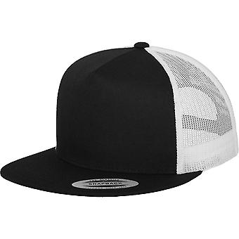 FLEXFIT trucker 5-Panel Snapback Cap - sort / hvid