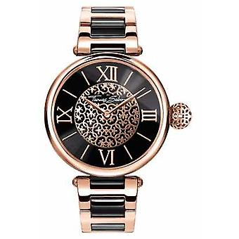 Thomas Sabo Womans Karma Two Tone Strap Black Dial WA0280-268-203-38 Watch