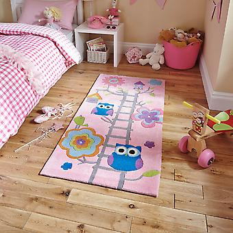 Hong Kong Hk5648 Pink Owl Rug