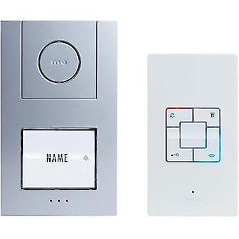Door intercom Corded Complete kit m-e modern-electronics Vistus AD 4010 Detached Silver, White