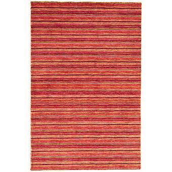 Sassari Red  Pink Modern Stripe Wool Rug