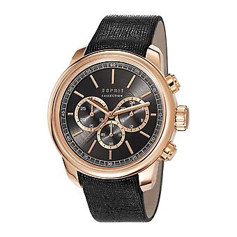 ESPRIT collection mens watch watch of Chrono Zethus leather EL102171002