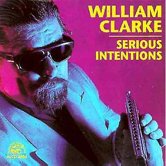 William Clarke - Serious Intentions [CD] USA import