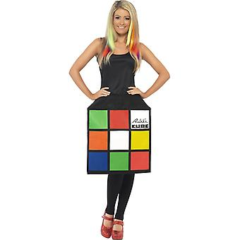 3D Rubik's cube cube dress costume ladies cube Rubik's cube dress
