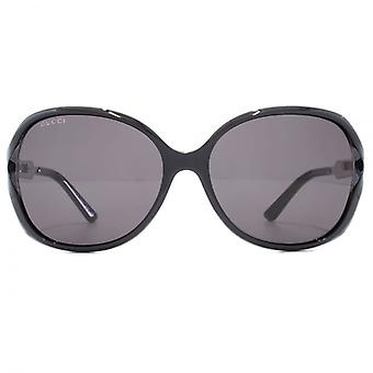 Gucci Cut Out Square Sunglasses In Black Ruthenium