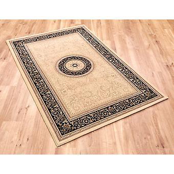 Edele kunst 6572-192 lichtbeige met zwarte rand rechthoek tapijten traditionele tapijten gemalen