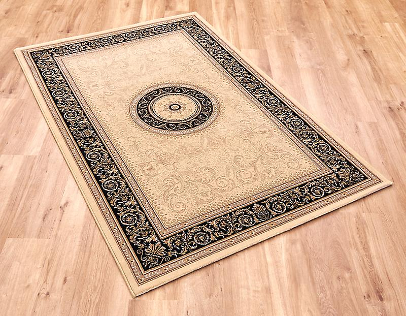 Noble Art 6572-192 Light beige ground with black border Rectangle Rugs Traditional Rugs