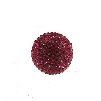 W.A.T Sparkling Hot Pink Crystal Ball Ring