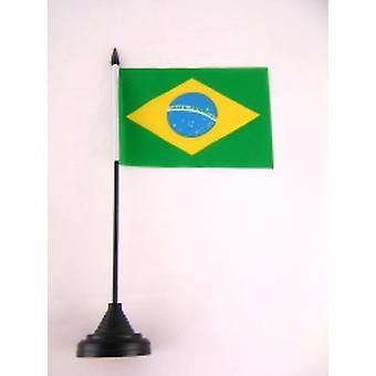 Brazil Table Flag with Stick & Base