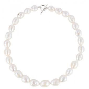 Pearl Aurora Baroque Freshwater Pearl Necklace - White