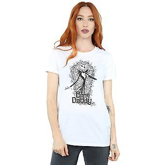 Disney Women's Nightmare Before Christmas Bone Daddy Boyfriend Fit T-Shirt