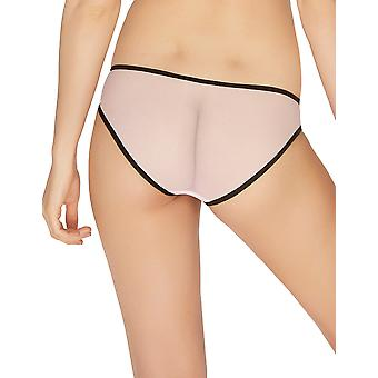 Mio Classic Hyacinth Pink and Black Lace Brief M161C