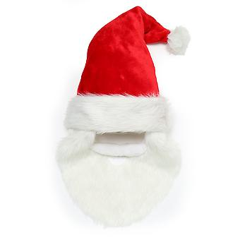 Christmas Shop Santa Hat With Beard And Moustache