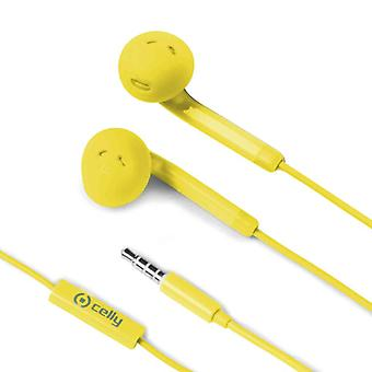 Celly Stereo Headset Earpod Yellow