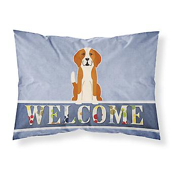 English Foxhound Welcome Fabric Standard Pillowcase