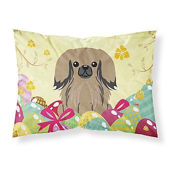 Easter Eggs Pekingnese Tan Fabric Standard Pillowcase