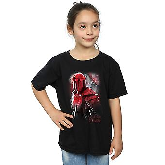 Star Wars meisjes de laatste Jedi Praetoriaanse bewaken geborsteld T-Shirt