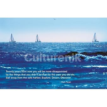 Ocean Good Day For Sailing Poster Poster Print