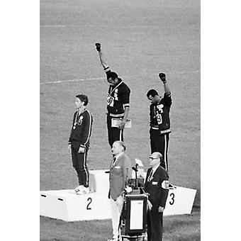 1968 Mexico Olympics Black Power Salute Poster Print (24 x 36)