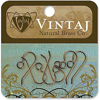 Vintaj Metal Ear Wires 6 Pkg French 20X10mm Er20r