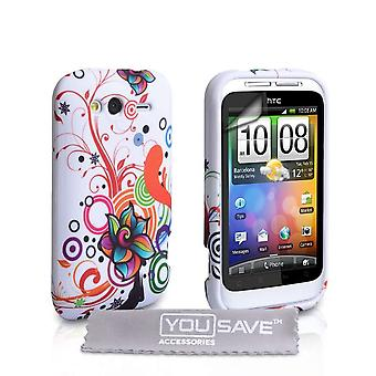 Yousave Accessories HTC Wildfire S Jellyfish Gel Case - Multicoloured