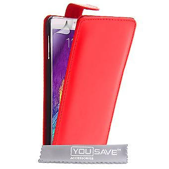 Samsung Galaxy Note 4 Leather-Effect Flip Case - Red