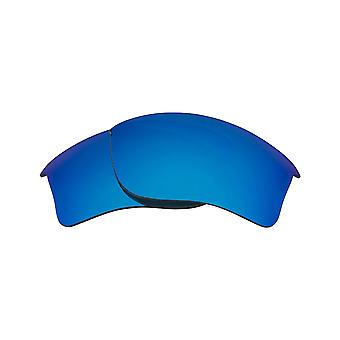 Best SEEK Lenses & Rubber Kit for Oakley FLAK JACKET XLJ Blue & Blue