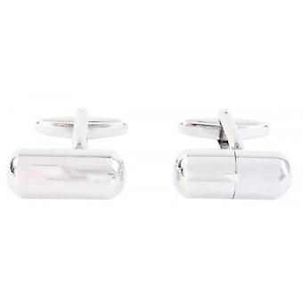 David Van Hagen Pill Pot Cufflinks - Silver
