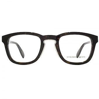 Alexander McQueen Edge AM0048 Glasses In Havana