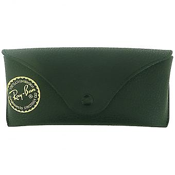 Ray-Ban Ray-Ban Matte Black Textured Sunglasses Case With Gold Luxottica Logo