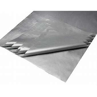 10 sheets of Deluxe Metallic Silver Bleed Resistant Tissue Paper