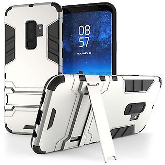Samsung Galaxy S9 Plus Armour Kickstand Case - Silver