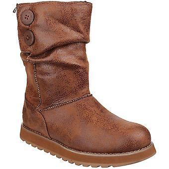 Skechers Womens/Ladies Keepsakes Esque Faux Leather Winter Snow Boots