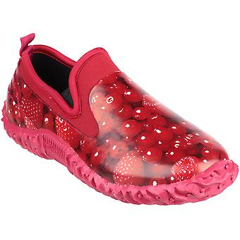 Cotswold Ladies Backdoor High Def Print Waterproof Garden Shoe Red