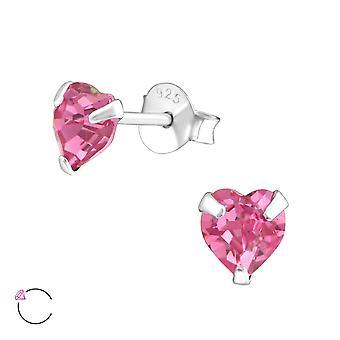 Heart crystal from Swarovski® - 925 Sterling Silver Ear Studs
