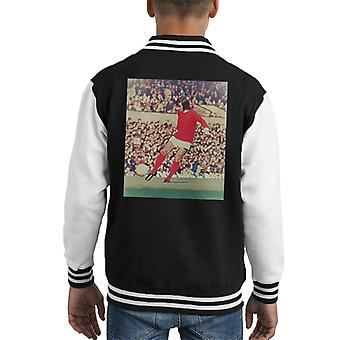 George Best Action For Manchester United October 1971 Kid's Varsity Jacket