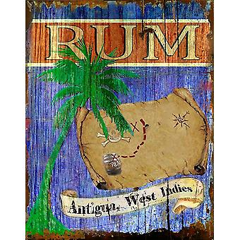 Antigua Rum Poster Print by Karen J Williams