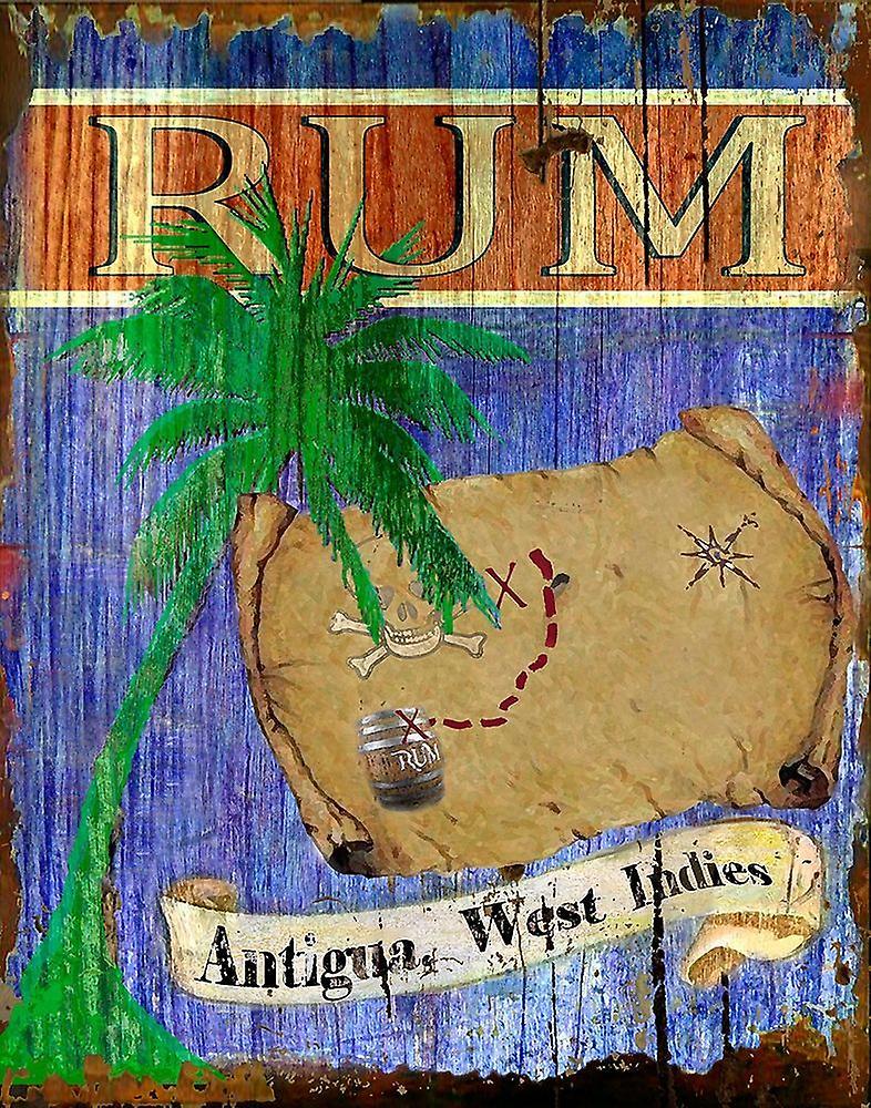 Antigua Rum Poster Print by Karen J Williams